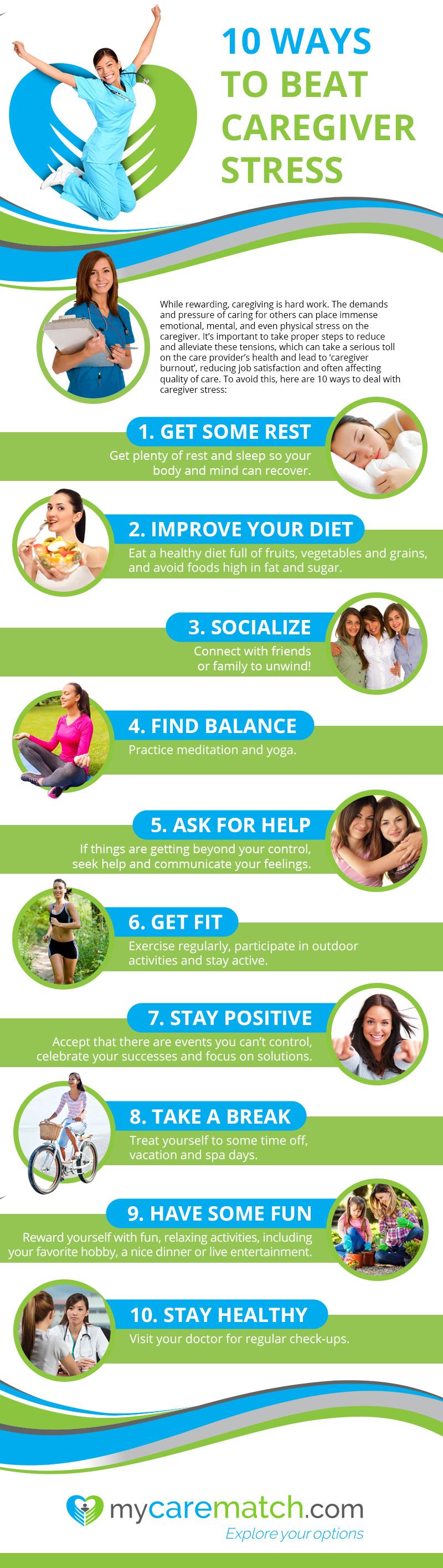 10 Ways to Beat Caregiver Stress