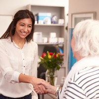 In-home caregiver job interview